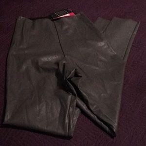 Commando Faux Leather Leggings Graphite Size M